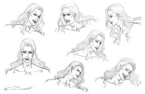 Silas Talbot Expression Sheet by Meiseki