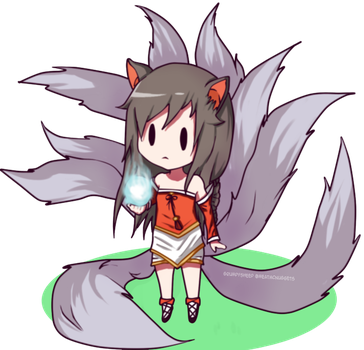 Ahri Chibi League Of Legends by Grumpythesheep