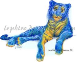 Blue Tiger by Lephiro