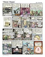 'Deluxe' record shop magazine comic strip by leeoconnor