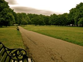 Green Park on a stormy day by FleetingMoments123