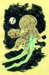 Post It Spaceman by MatthiusMonkey