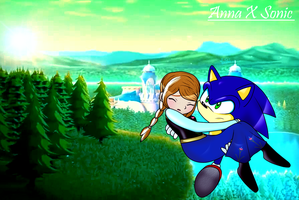 Frozen And Sonic Crossover: Anna X Sonic by icefatal