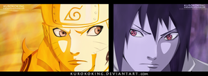 Naruto 633 Naruto and Sasuke by KUROKOKING