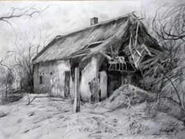 Collapsed House by Miknyik