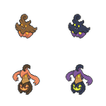 Pumpkaboo and Gourgeist - Hi-Res Icons by Levaine