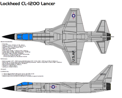 Lockheed CL-1200 Lancer X-27 by bagera3005