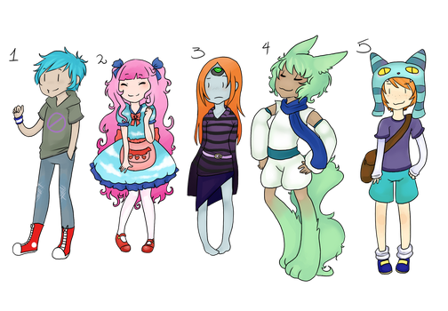 Bidding adoptables [CLOSED] by NoyiiArts