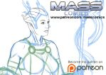 Asari Sketch by masscomics
