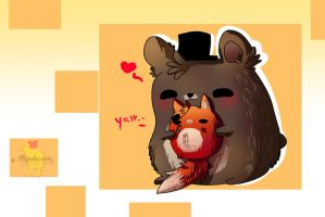 Bear hug! [ Frexy  Gift ] by Hiyoko-little-chick
