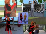 Batwoman + The Question -Sims2 by gargoylekitty