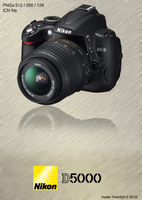 Nikon D5000 Icon by made-Twenty9
