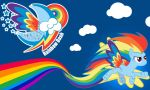 Rainbow Dash Rainbow Wall by Evilarticfox