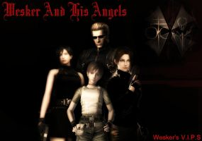 Wesker And His Angel's by IamRinoaHeartilly