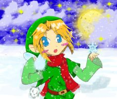 Link + Navi - The Glowing Snow by Neko-Kathy