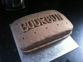 Bourbon Biscuit Birthday Cake by Stacey2512