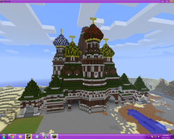 St. Bazil in Minecraft by chickenmobile