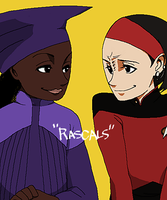 Guinan and Ensign Ro by hasze