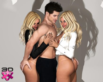 TWINS NICOLE and LETICIA - PHOTOSHOOT WITH ZANE 5 by 3D-Angels