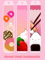 Sweet Food Book Marks by AntaresPuchu