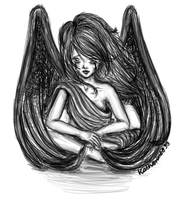 Sad Angel by Kazuren