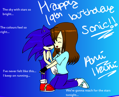 Happy 19th birthday Sonic by berrywhitesnow