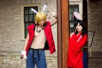 Summer Wars King Kazma and Natsuki (Ikkicon 2013) by OORR