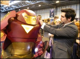Tony checking out his work by MJ-Cosplay