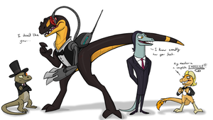 Lizards in Suits by MF99K