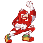 Knuckles from Sonicboom by AnicMJ