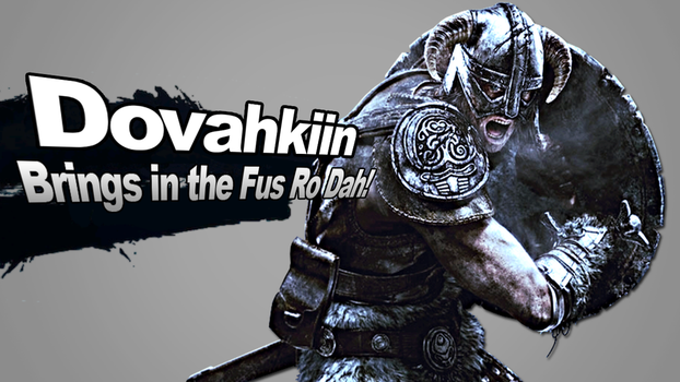 Dovahkiin as a SSB newcomer! by SuperpanArts