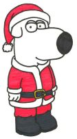Brian as Santa by BrianGriffinFan