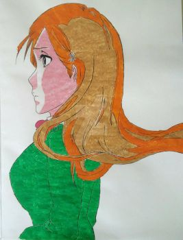 Orihime Inoue Portrait by Abuelo92