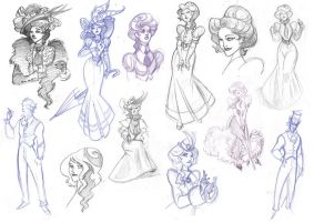 Victorian sketches 1 by kyla79