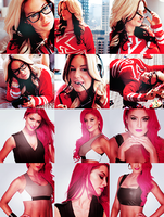 6 Eva Marie and 6 Kaitlyn Icons by SinfullyxMe