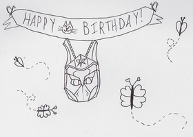 Birthday Doodle by Obsessor0fThings