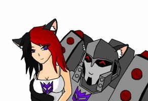 Mika-chan and Megatron by NiGHTSgirl666