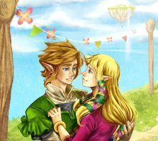 TLoZ Skyward Sword - Good morning spleepy head by Rebe-chan-vk