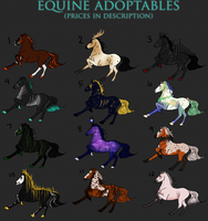 $3+ Equine Adoptables ** 7 LEFT **  || USD by APOLLUMICITY