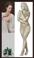 Statue study : Rebecca by Turning2stone