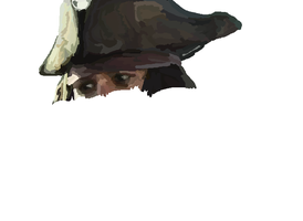 MS-Paint- Jack Sparrow WIP 1 by mel-lyks-cereal