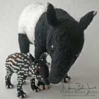 Malayan Tapirs by FamiliarOddlings
