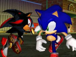 Sonic Adventure 2 battle when sonadow started by SonicRingBomb