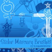 Sailor Mercury Brushes by augustanekochan