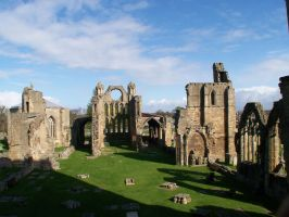 Elgin Cathedral. From inside the fence 7 by Mishkah52