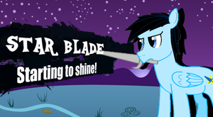Super Smash Ponies: New Challenger Star Blade by FireLapisJade