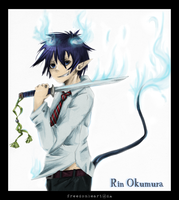 The Blue Exorcist by freedomheart