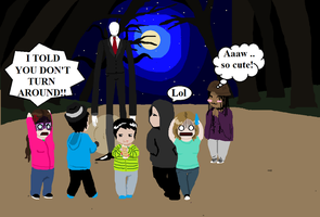 When my friends and me were in the Slender-game .. by Scarygermangirl