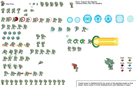My new look and Sprite Sheet by TitoTheAlienhog