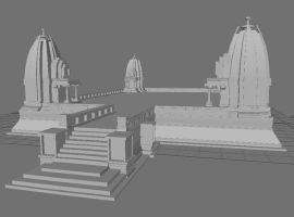 Temple of Vishnu WIP by Meloncov